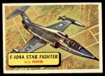 1957 Topps Planes #51 BLU  F-104A Star Fighter Front Thumbnail