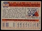 1957 Topps #131  Milt Bolling  Back Thumbnail