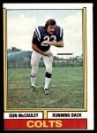 1974 Topps #43 ONE Don McCauley  Front Thumbnail