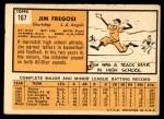 1963 Topps #167  Jim Fregosi  Back Thumbnail