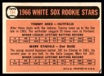 1966 Topps #164   -  Tommie Agee / Marv Staehle White Sox Rookies Back Thumbnail