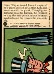 1966 Topps Batman Red Bat #32   Captain Kidd's Caper Back Thumbnail