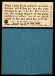 1966 Topps Batman Red Bat #38   In the Path of Death Back Thumbnail