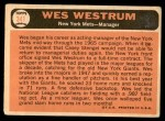 1966 Topps #341  Wes Westrum  Back Thumbnail