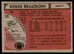 1980 Topps #26  Doug Beaudoin  Back Thumbnail