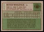 1984 Topps #324  Butch Woolfolk  Back Thumbnail