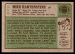 1984 Topps #225  Mike Hartenstine  Back Thumbnail