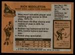 1975 Topps #37  Rick Middleton   Back Thumbnail