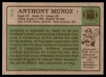 1984 Topps #45  Anthony Munoz  Back Thumbnail
