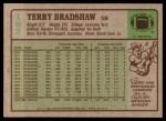 1984 Topps #162  Terry Bradshaw  Back Thumbnail