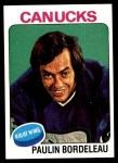 1975 Topps #151  Paulin Bordeleau   Front Thumbnail