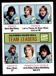 1975 Topps #316   -  Larry Patey / Stan Weir / Dave Hrechkasy Seals Leaders Front Thumbnail