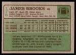 1984 Topps #176  James Brooks  Back Thumbnail