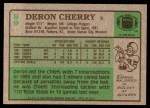 1984 Topps #89  Deron Cherry  Back Thumbnail
