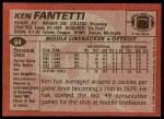1983 Topps #64  Ken Fantetti  Back Thumbnail