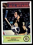 1975 Topps #292   -  Phil Esposito  Second Team All-Stars Front Thumbnail