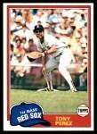 1981 Topps #575  Tony Perez  Front Thumbnail