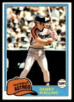 1981 Topps #439  Dennis Walling  Front Thumbnail
