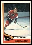 1974 Topps #163  Rick MacLeish  Front Thumbnail