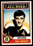 1974 Topps #129   -  Phil Esposito All-Star Front Thumbnail