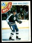 1978 Topps #21  Dan Maloney  Front Thumbnail