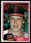 1981 Topps #144  Allen Ripley  Front Thumbnail