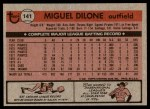 1981 Topps #141  Miguel Dilone  Back Thumbnail