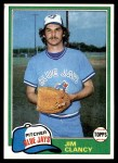 1981 Topps #19  Jim Clancy  Front Thumbnail