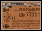 1981 Topps #150  Kellen Winslow  Back Thumbnail