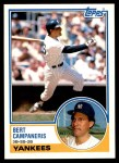 1983 Topps Traded #18 T Bert Campaneris  Front Thumbnail