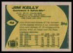 1989 Topps #46  Jim Kelly  Back Thumbnail