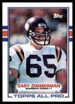 1989 Topps #77  Gary Zimmerman  Front Thumbnail