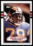 1989 Topps #135  Jackie Slater  Front Thumbnail