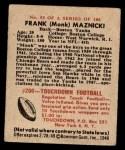 1948 Bowman #53  Frank Maznicki  Back Thumbnail