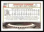 1992 Topps Traded #85 T Donovan Osborne  Back Thumbnail