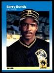 1987 Fleer #604  Barry Bonds  Front Thumbnail