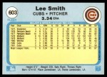 1982 Fleer #603 REV Lee Smith  Back Thumbnail