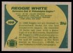 1989 Topps #108  Reggie White  Back Thumbnail