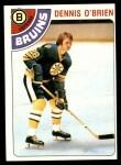 1978 Topps #104  Dennis O'Brien  Front Thumbnail