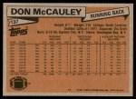 1981 Topps #137  Don McCauley  Back Thumbnail