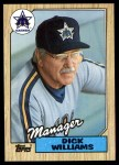 1987 Topps #418  Dick Williams  Front Thumbnail