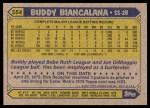 1987 Topps #554  Buddy Biancalana  Back Thumbnail