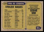 1987 Topps #596   -  Steve Sax All-Star Back Thumbnail