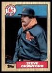 1987 Topps #589  Steve Crawford  Front Thumbnail