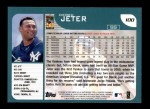 2001 Topps #100  Derek Jeter  Back Thumbnail