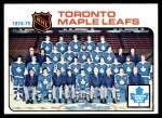1975 Topps #91   Maple Leafs Team Checklist Front Thumbnail