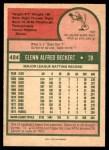 1975 O-Pee-Chee #484  Glenn Beckert  Back Thumbnail