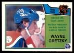 1983 O-Pee-Chee #215   -  Wayne Gretzky League Leaders Front Thumbnail