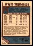 1977 O-Pee-Chee #142  Wayne Stephenson  Back Thumbnail