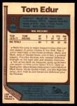 1977 O-Pee-Chee #169  Tom Edur  Back Thumbnail